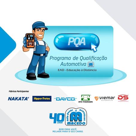 Auto Peças Macedo promove capacitação EAD para reparadores automotivos