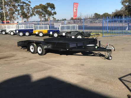 "16'x 6'6"" beavertail tandem axle car trailer"