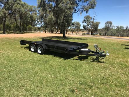 "16'x 6'6"" flat deck tandem axle car trailer"