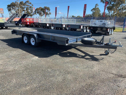"16'x 6'6"" flat deck tandem axle car trailer"