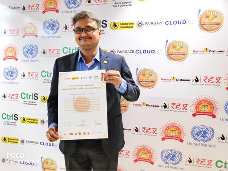 Vidyadhar Prabhudesai conferred with Karmaveer Chakra Award