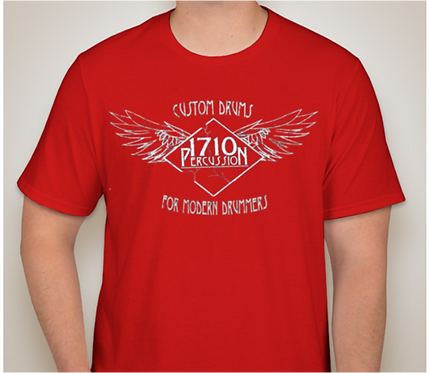 1710 Percussion Red T-Shirt