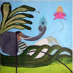 Bleu Elephant Girl Creating