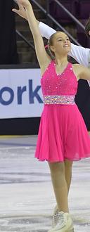 Custom Ladu design. Donned with Swarovski crystals it is stunning on the ice.