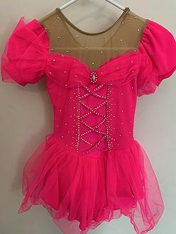 Elegant and romantic fuchsia jeweled dress.