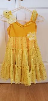 Sweet and Sunny Yellow Skating Dress