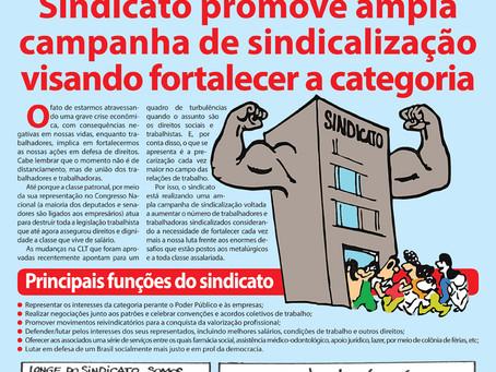 Sindicato promove ampla campanha de sindicalização visando fortalecer a categoria