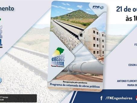 Engenheiros lançam projeto Cresce Brasil com retomada de obras