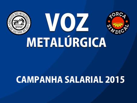 Leia Voz Metalúrgica Campanha Salarial 2015