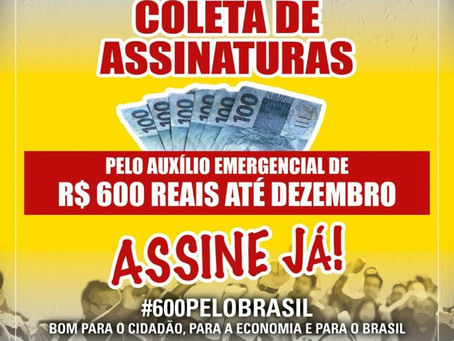 Centrais sindicais lançam campanha para manter o auxílio de R$ 600