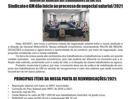 Negociação salarial GM 2021