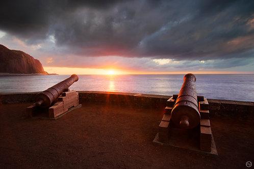 Canons du Barachois, île de La Réunion