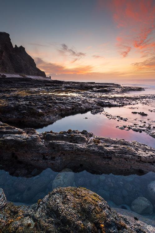 Crépuscule sur le Cap la Houssaye