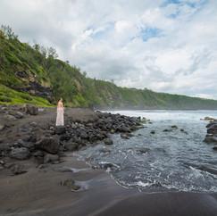 Plage de Vincendo, La Réunion  Modèle : Marion Elle