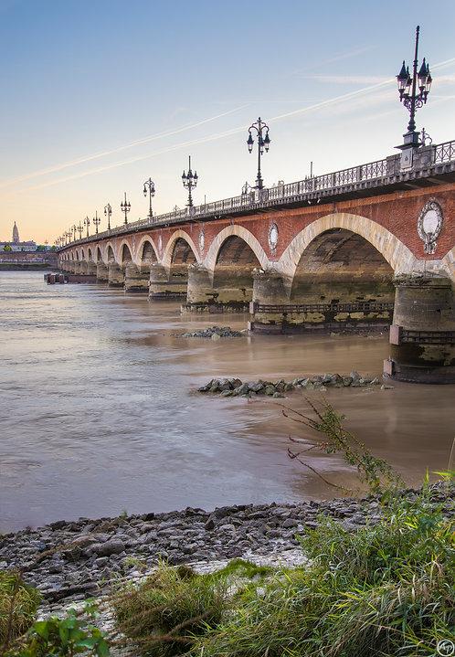 Pont de Pierre & rive droite - Bordeaux