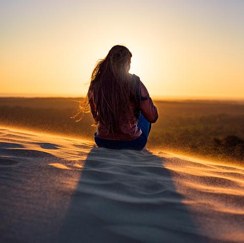 Dune du Pilat, Bassin d'Arcachon  Modèle : Marion Elle