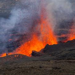 Eruption du Piton de La Fournaise (2015)  Retrouvez cette photo dans le SHOP :