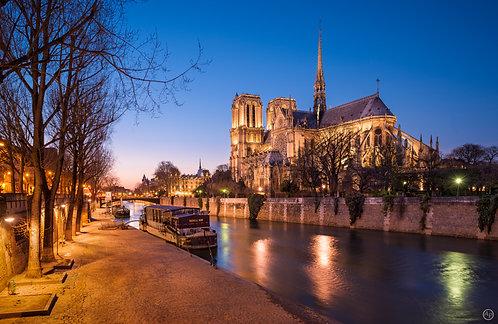 Crépuscule sur Notre-Dame de Paris