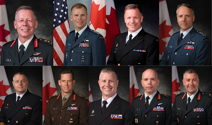 Image of leadership of Canadian Armed Forces.