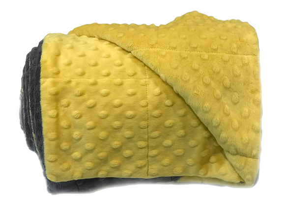 7LB Yellow Moxie Weighted Blanket