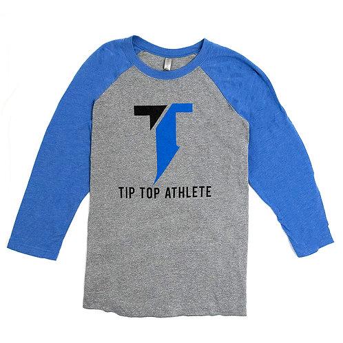Blue/Gray Baseball T-shirt
