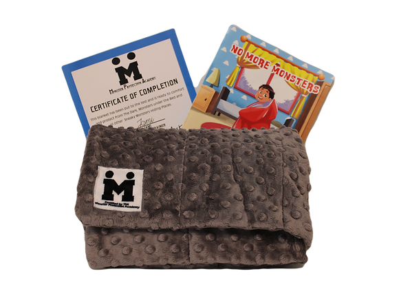 Monster Protection Academy Gray 5LB Weighted Blanket