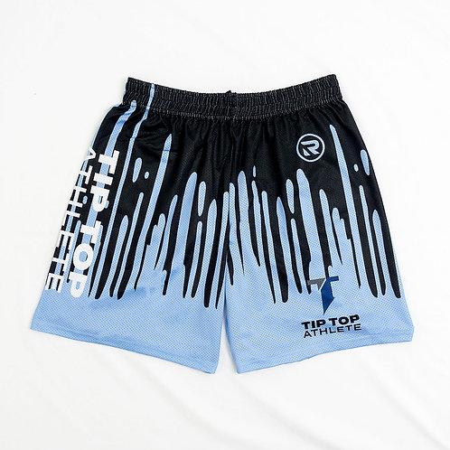 Blue/Black Drip Shorts