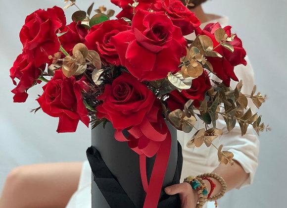 Lush Red Roses Box