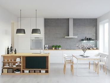 Modern, organized kitchen