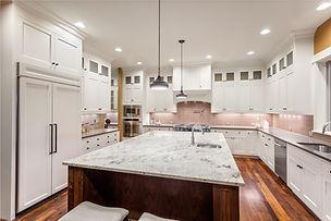 Traditional Kitchen with Granite Countertops