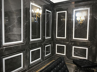 Graphite Grey Marble Carved Wall Panels