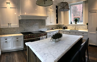 Carrara Marble Kitchen Countertop