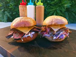 Brisket & Pulled Pork Burgers