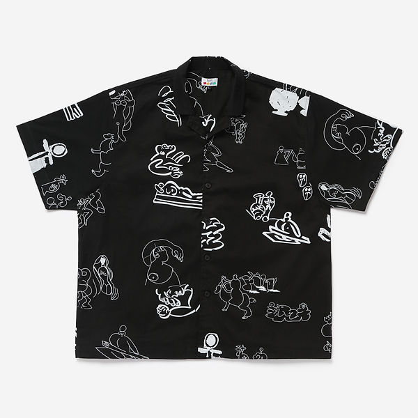 Short Sleeve Shirt (all over print) Blac