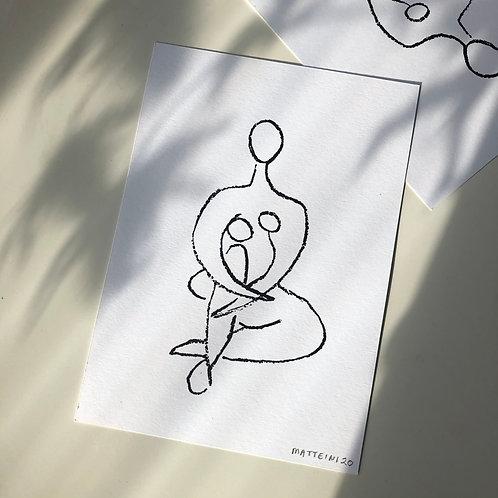 'Seated Nude' -  A5 Screenprint