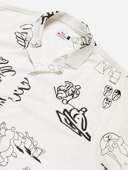 Bo Matteini SCRT Short Sleeve Shirt (all over print) Whit