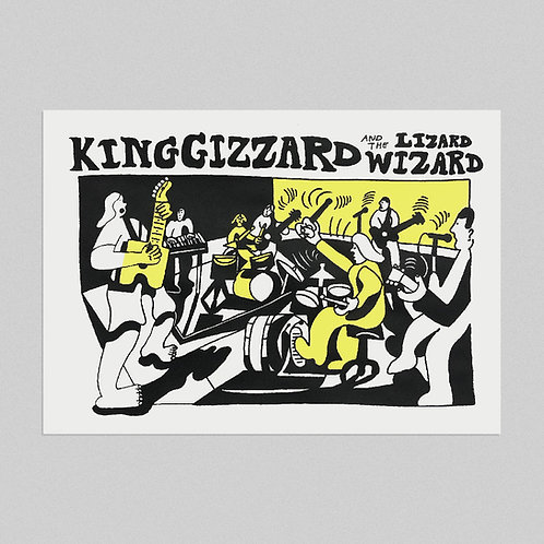 'Gizz, live on KEXP' -  A3 Screenprint