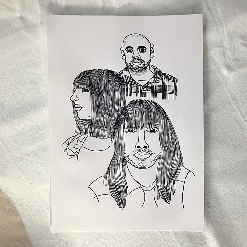 Khruangbin Portrait - A3 Screenprint