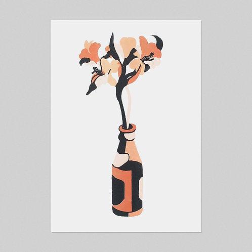 'Flower In a Bottle' - A3 Risograph Print