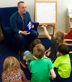 Reading my book to kids!
