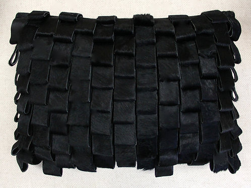 Black Cowhide Pillow