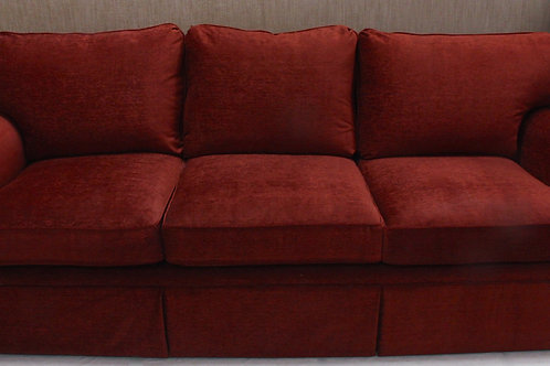 Red-Orange Chenille Sofa
