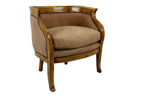 Italian Style Chair, with Antique leather