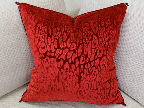 Red Velvet Pillow for Sofa Dećor