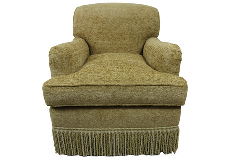 English Club Chair In Chenille Fabric $1500 For One $3000 For Two
