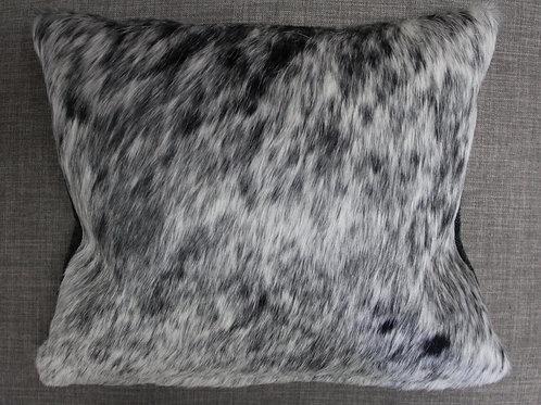 Half Cowhide/Half Fabric Kidney Pillow