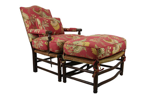 French Rush Chair + Ottoman