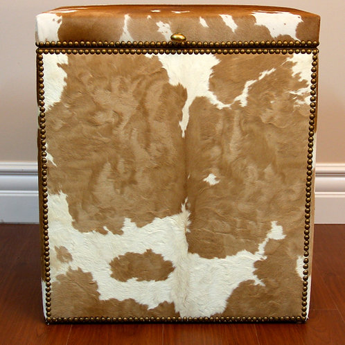 Nightstand Upholstered in Baby Sheep Leather