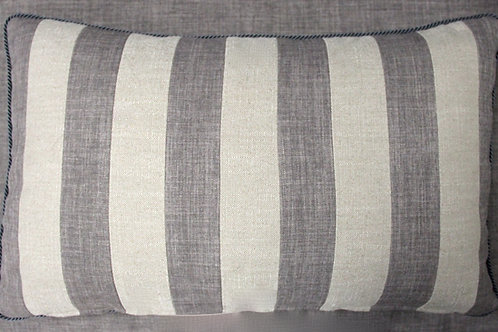 Gray & White Striped Pillow for Sofa Dećor