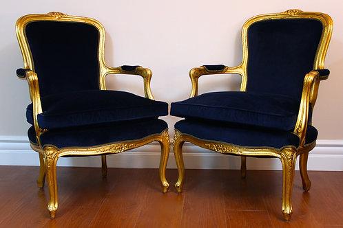 Italian Gold Lift in Blue Velvet